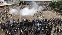 Protests continue in Hong Kong.