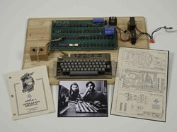 The Apple-1 personal computer, which sold in an online-only auction in July
