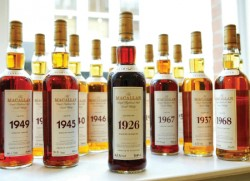 Macallan malts stretching from 1926 to 1972